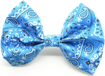 Blue Bandana Bow Tie (DO-BLUEBANDANABOW)