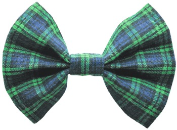 Blue Tartan Plaid Bow Tie (DO-BLUETARTANBOW)