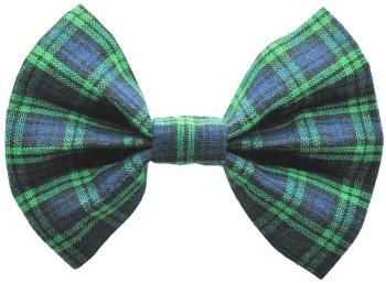 Blue Tartan Plaid Bow Tie (DO-BLUETARTANBOW)