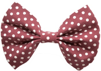 Maroon Polka Dot Bow Tie (DO-MRNPOLKADOTBOW)