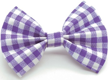 Dark Purple Gingham Bow Tie (DO-PURPLEGINGBOW)