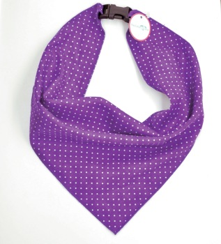 Purple Pin Dot Scarf (DO-PURPLEDOTSCRF)