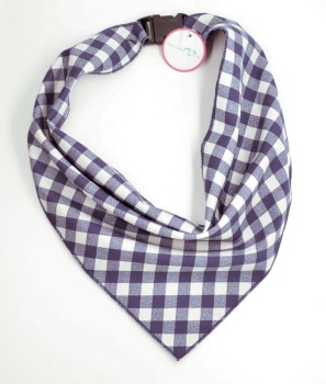 Navy & White Buffalo Plaid Scarf (DO-NVBUFFSCRF)