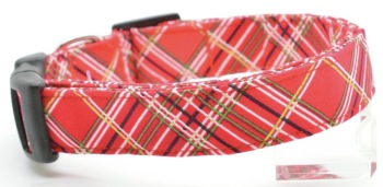 Red Holiday Plaid Collar (DO-REDHLLDYPLAID)