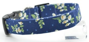 Navy Blue Daisy Collar (DO-NVYBLUDSY)