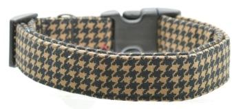 Brown Houndstooth Collar (DO-BRWNHOUNDSTTH)
