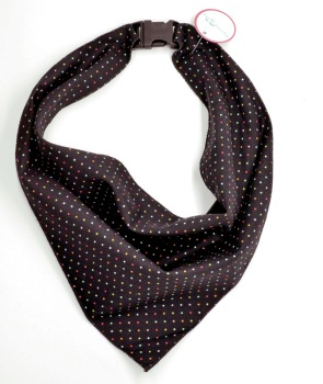 Black Multi Pin Dot Scarf (DO-BLKMLTIPINDOT)