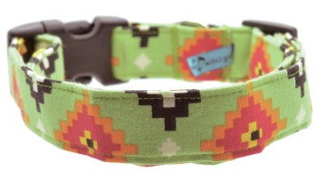 Green Aztec Collar (DO-GREENAZTEC)