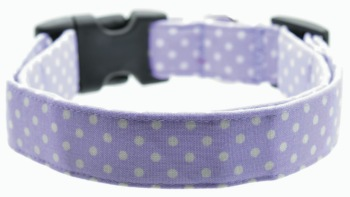 Lavender Polka Dot Collar (DO-LAVENDERPOLKA)