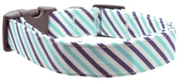 Navy & Aqua Stripe Collar (DO-NAVYAQUASTRIPE)