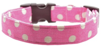 Pink Polka Dot Collar (DO-PINKPOLKADOT)