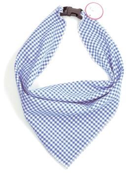 Blue Mini Gingham Scarf (DO-BLUEMINIGINGSCRF)