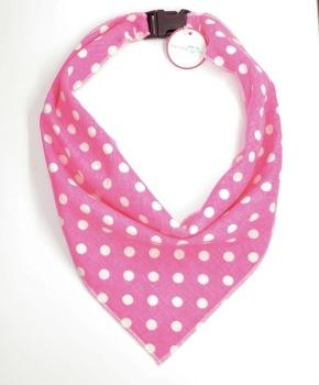Pink Polka Dot Scarf (DO-PINKPOLKASCRF)