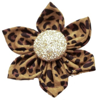 Leopard Flower with Gold Button Center (DO-LEOPARDGFLOWER)