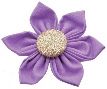 Purple Flower with Gold Button Center (DO-PURPLEGFLOWER)