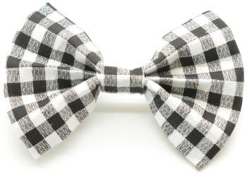 Black Gingham Bow Tie (DO-BLACKGINGHAMBOW)
