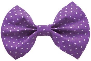 Purple Pin Dot Bow Tie (DO-PURPLEPINDOTBOW)