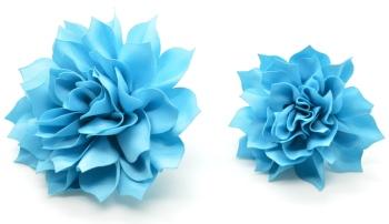Turquoise Blue Fluffy Flower (DO-FLUFFYTURQ)