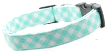Turquoise Gingham Collar (DO-TURQUOISEGING)