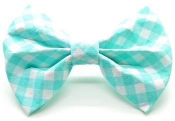 Turquoise Gingham Bow Tie (DO-TURQUOISEGINGBOW)