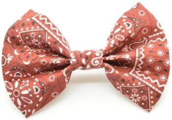 Maroon Bandana Bow Tie (DO-MAROONBANDANABOW)