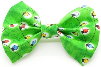 Green Christmas Light Bow Tie (DO-GREENXMASLIGHTBOW)
