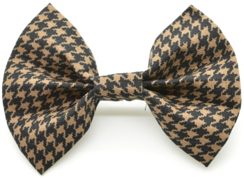 Brown Houndstooth Bow Tie (DO-BROWNHOUNDSTOOBOW)