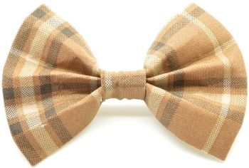 Brown Plaid Bow Tie (DO-BROWNPLAIDBOW)