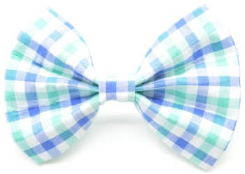 Blue & Green Gingham Bow Tie (DO-BGGINGHAMBOW)