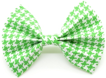 Green Houndstooth Bow Tie (DO-GREENHOUNDSBOW)