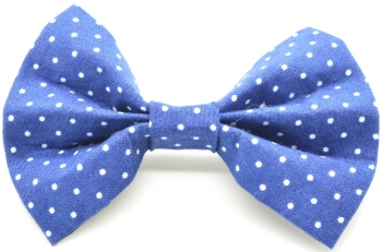 Blue Pin Dot Bow Tie (DO-BLUEPINDOTBOW)