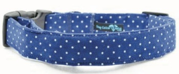 Blue Pin Dot Collar (DO-BLUEPINDOT)