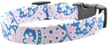 Pink and Blue Paisley Collar (DO-PINKBLUEPAISLEY)