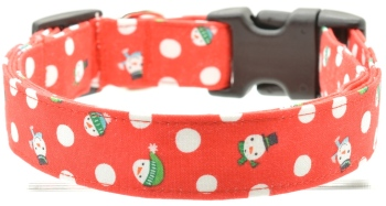 Red Snowman Collar (DO-REDSNOWMAN)