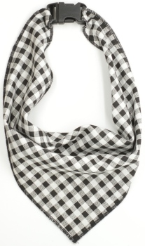Black Gingham Scarf (DO-BLACKGINGHAMSCRF)