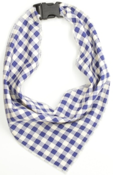Blue Gingham Scarf (DO-BLUEGINGHAMSCRF)
