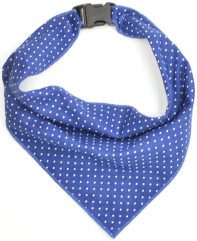Blue Pin Dot Scarf (DO-BLUEPINDOTSCRF)