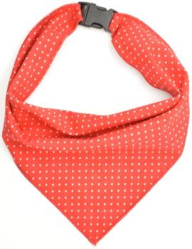 Red Pin Dot Scarf (DO-REDPINDOTSCRF)