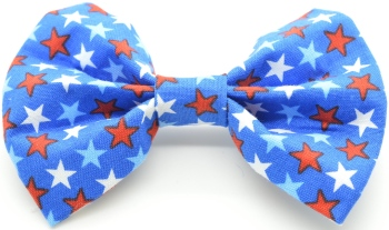Blue and Red Stars Bow Tie (DO-BLUEREDSTARSBOW)