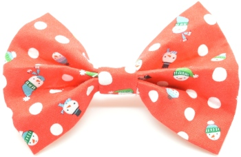 Red Snowman Bow Tie (DO-REDSNOWMANBOW)