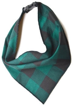Green Buffalo Plaid Scarf (DO-GREENBUFFALOSCRF)