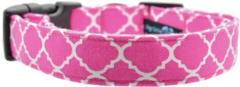 Pink Quatrefoil Collar (DO-PNQUAT)