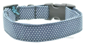 Navy Pin Dot Collar (DO-NVYPINDOT)
