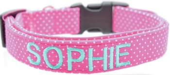 Pink Pin Dot Collar (DO-PINKPINDOT)
