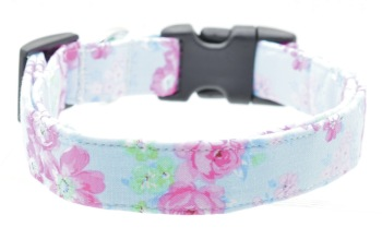 Blue Pink Floral Collar (DO-BLPNKFLRL)