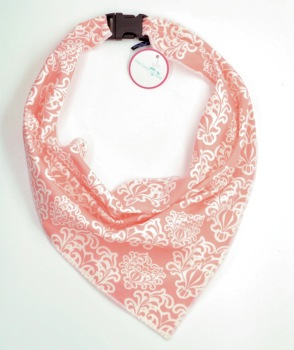 Coral Damask Scarf (DO-CORDMSKSCRF)