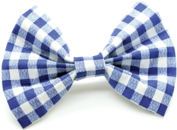 Blue Gingham Bow Tie (DO-BLUEGINGHAMBOW)