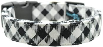 White & Black Buffalo Plaid Collar (DO-WHITEBUFFALO)