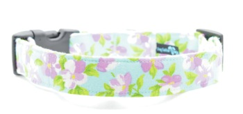 Light Blue Pansy Collar (DO-LTBLUPNSY)