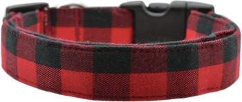 Red & Black Buffalo Plaid Collar (DO-RDBUFF)
